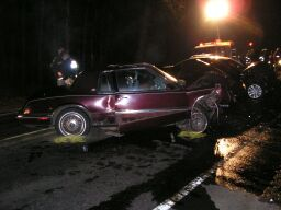 picture of car wrecked in crash