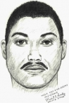Sketch of alleged assailant