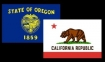California and Oregon flags