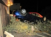 Chevy Cobalt upside down after wreck