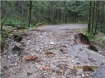 Forest road washed out by rains at Detroit, Oregon