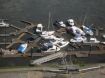 Damage at a marina near Chetco River, Oregon