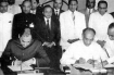 Signing of the Indo-Sri Lankan Accord.