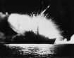 HMS Antelope under attack by Argentina