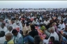 More than 5,000 people gathered at Marina Beach.