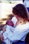 This is Zachary David Warner and me (Zachary's mother), July 1995 in Independence, Oregon