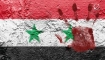 Syria flag with blood