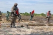 Army personnels inspect an area for bombs and mines and treat dioxin pollution at Đà Nẵng Airport.—VNS File Photo