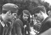 Hans Scholl (left), Sophie Scholl and Christoph Probst, leaders of the White Rose resistance organization. Munich 1942 (USHMM Photo)