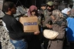 Yarmouk camp in Damascus A new batch of food aid entered al-Yarmouk Palestinian refugees camp in Damascus