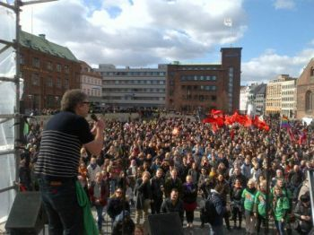 anti-fascist rally in Denmark