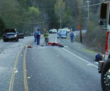 Fatal motorcycle crash near Rogue River, Oregon 4-4-09
