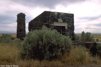 Sept '95 photo of ruins of Camp Minidoka in Idaho