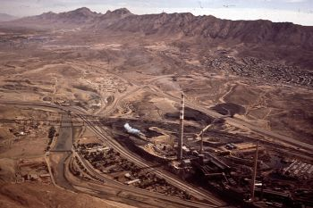 American Smelting and Refinery Company (Asarco) plant on the U.S.-Mexico border in El Paso, Texas.