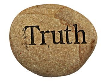Stone engraved with truth