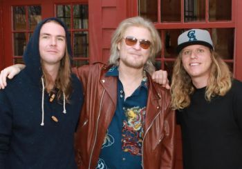 Daryl Hall with Jared and Dustin from the Dirty Heads