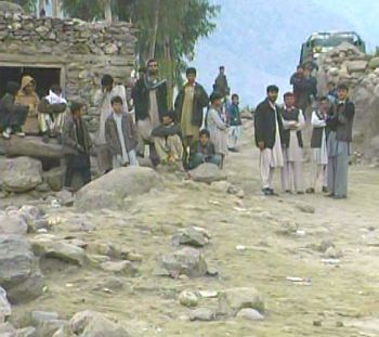 Afghan civilians in the Kunar province