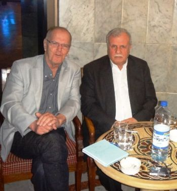 Franklin Lamb with Ziad el Shayer (Abu-Hazem) Sec-Gen of Fateh Intifada