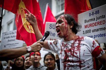 Protest in Burma