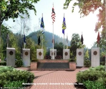 Hero's tribute in Gresham, Oregon