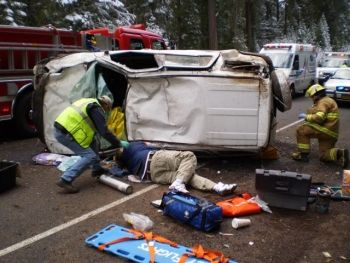 Crash near Fish Lake, Oregon 4-29-09