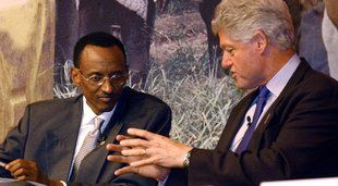 Paul Kagame and Bill Clinton