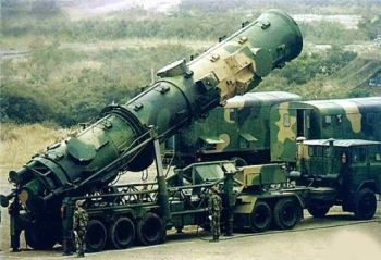 The latest generation of the Dong Feng 21D (DF-21D) Chinese missile.