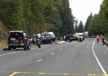 Fatal crash, Clatskanie, Oregon 8-10-09