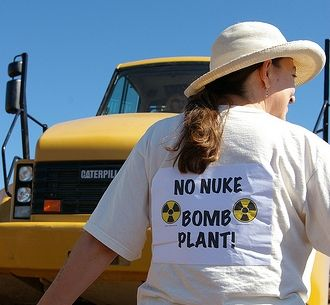 Image from anti-nuke event in Kansas City.