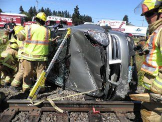 Crash Scene Highway 30 Warren Oregon