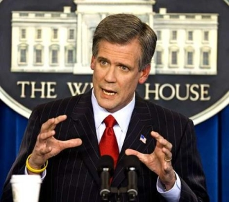 Outgoing White House Spokesman Tony Snow