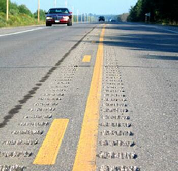 Rumble strips in Minnesota
