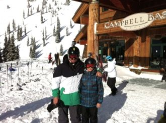 Eric and Evan at Crystal Mountain