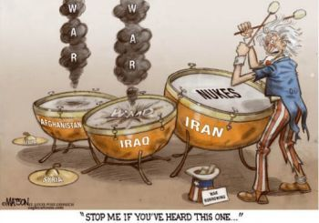 Beating the drums of war