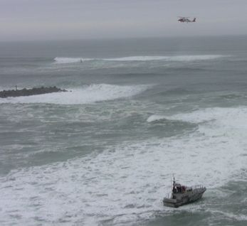 Coast Guard 47-foot motor lifeboat crew from Station Tillamook Bay