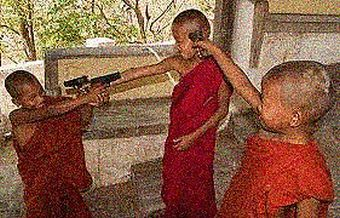 Buddhist kids with guns