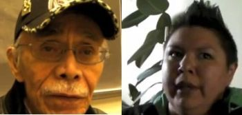 Sylvester Greene and Shawna Green -survivors of Indian residential schools in Canada