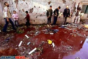 Blood alley in Gaza- human blood