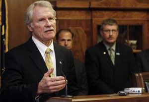 COME TO SESSION: Gov. John Kitzhaber on Monday calls lawmakers into a special session at the State Capitol in Salem, Ore. (AP photo)