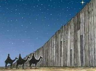 Christmas behind the wall