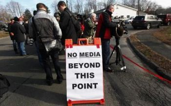 Media at Newtown tragedy