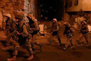 Israeli soldiers in West Bank