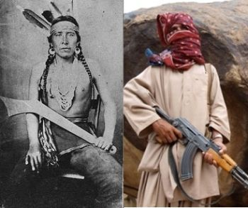 A Dakota resistance fighter from the late 1800's and a Baloch resistance fighter from the early 2000's.