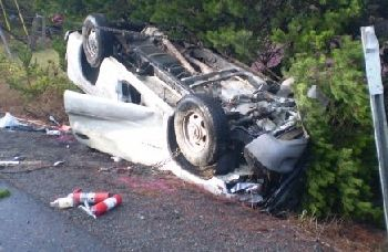 Photo of fatal crash near Bandon 12-30-09