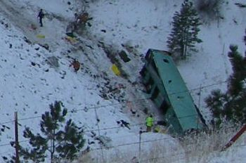 Bus crash near Pendleton, Oregon