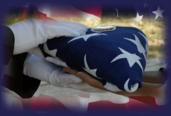 American flag folded at funeral