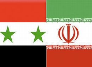 Flags of Syria and Iran