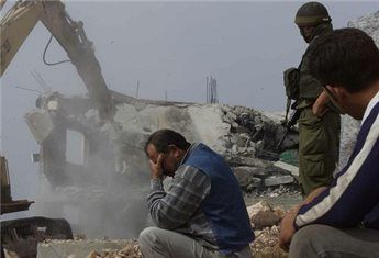 Palestinian home is demolished with Israeli bulldozer