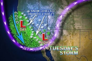 Snow storm set to strike California