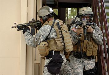 US 7th Special Forces during training exercises